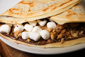 Valentine's Day special Want S'mores Crepe by Crepe Delicious