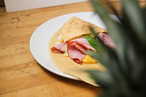 our limited time march special, a delicious Sunset Crepe