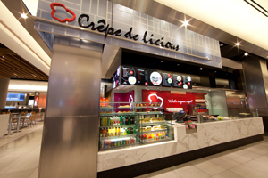 Crepe Delicious outlet in a food court of a mall