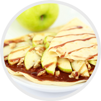 Caramel Apple Crepe at Crepe Delicious